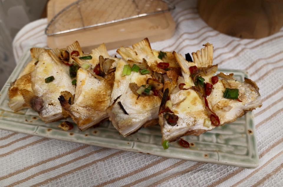 水波爐之鹹酥魚下巴