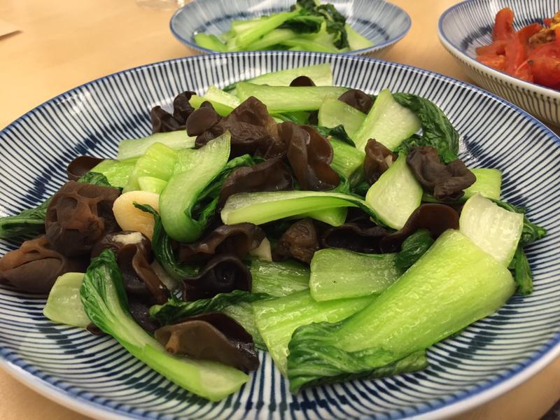 【養生食譜】—東北秋木耳炒青江菜