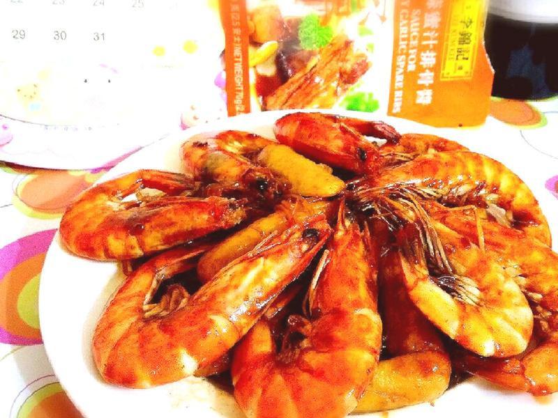 蜜汁鮮蝦燴粉絲【全聯快炒包料理】