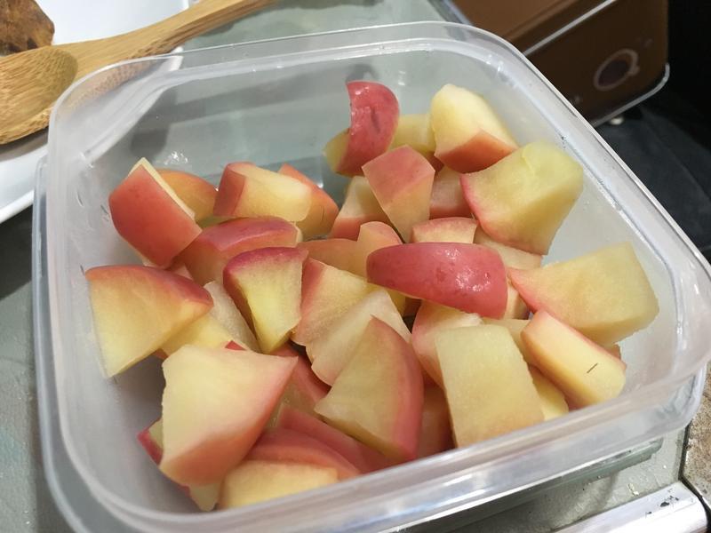 簡單電鍋蒸蘋果