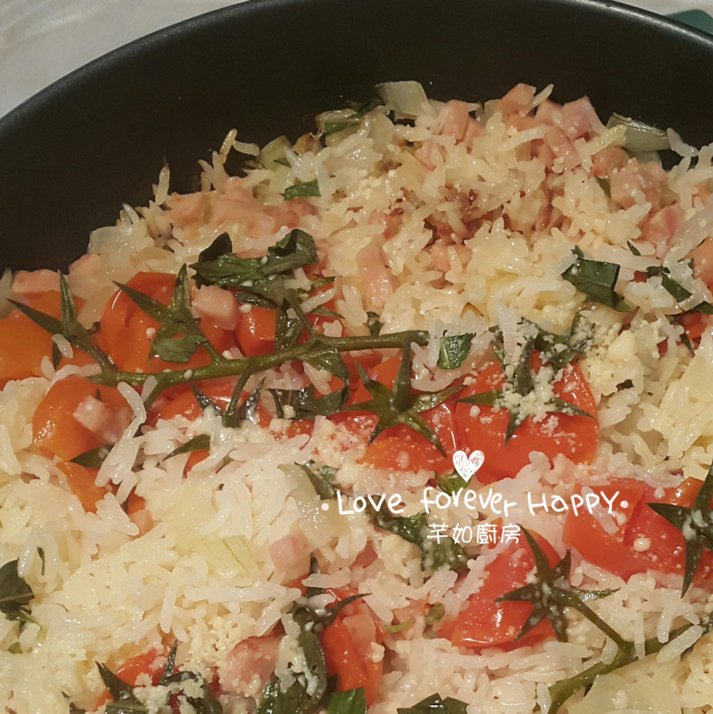 簡易平底鍋聖女果焗飯