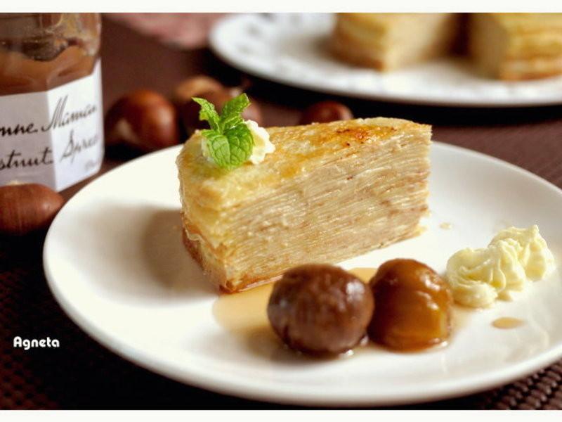[阿妮塔♥sweet] 栗子可麗千層蛋糕 (免烤箱)