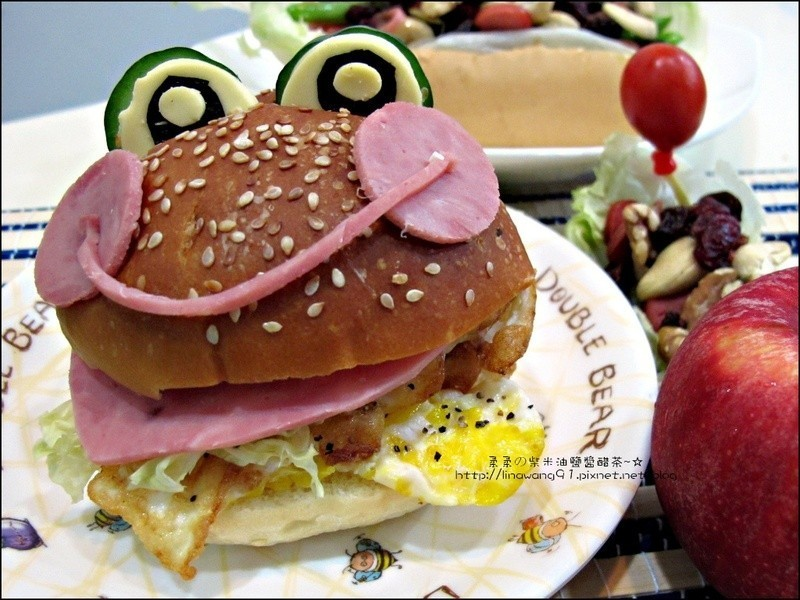 火腿青蛙漢堡(兒童漢堡)