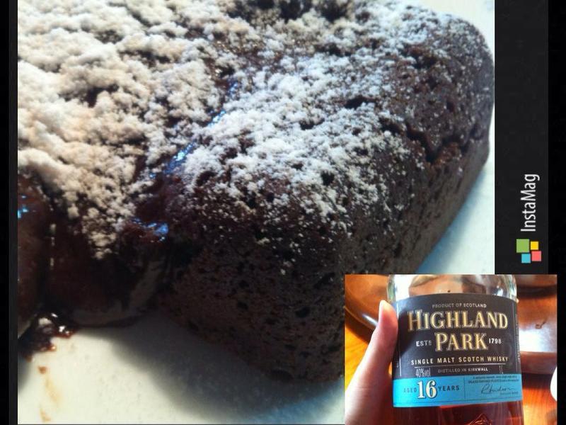 威士忌熔岩巧克力蛋糕[小烤箱]