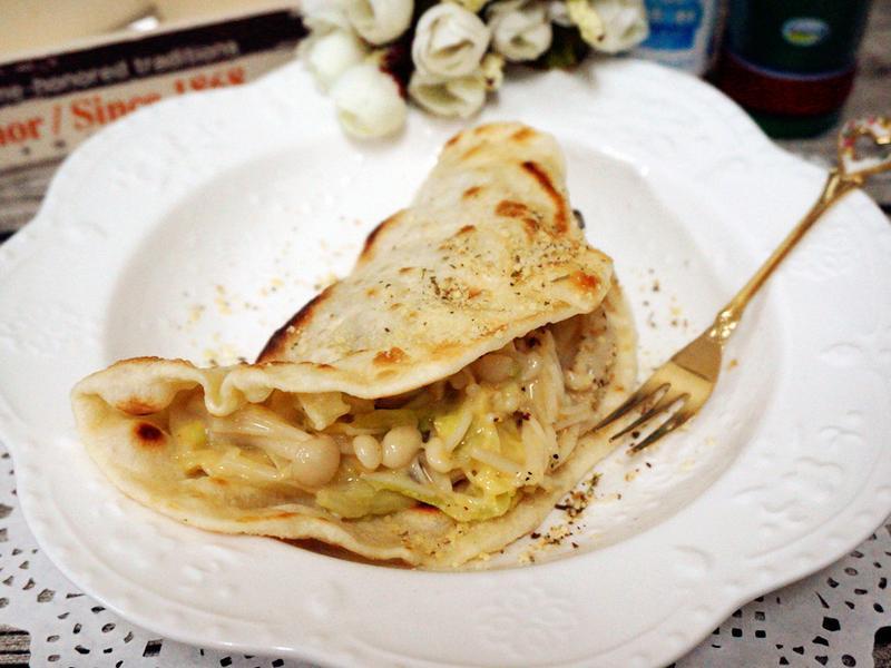 創意乳酪菇墨西哥薄餅_好菇道美味家廚
