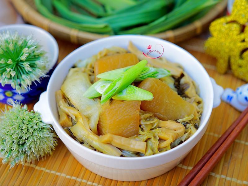 菜頭筍絲白菜滷