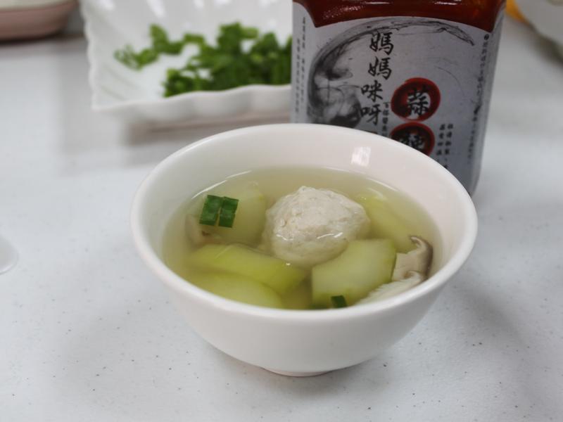 美味低脂的大黃瓜魚丸湯