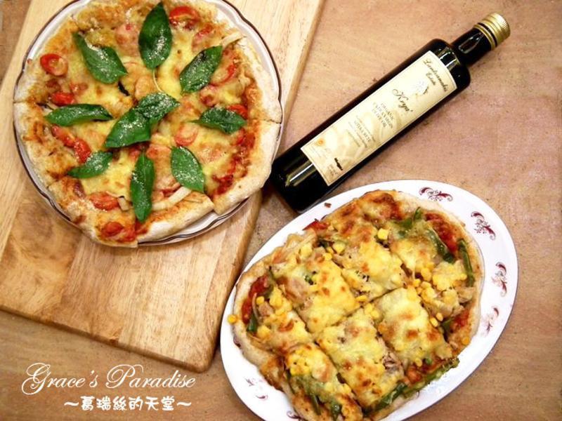 來做瑪格麗特披薩吧!(使用克萊雅橄欖油)