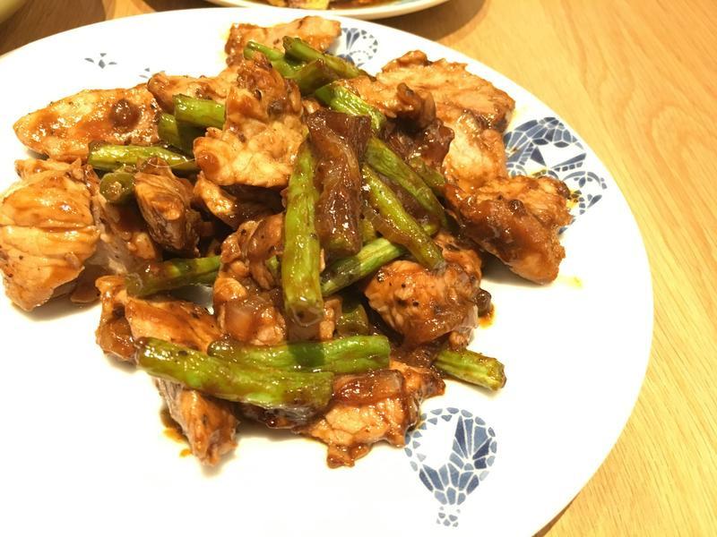 黑胡椒四季豆炒肉片【全聯快炒包料理】