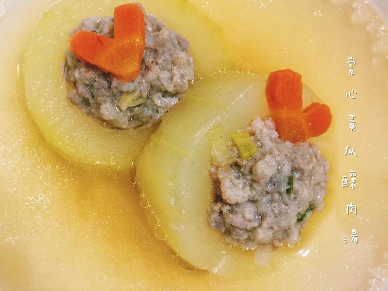 愛心黃瓜釀肉湯