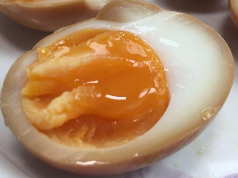 蛋黃呈現膏狀的溏心蛋