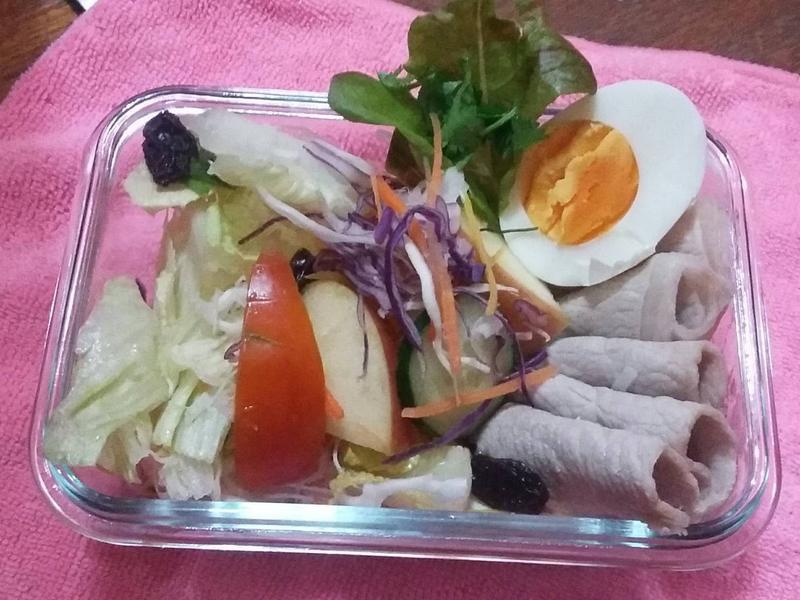 石安雞蛋安心豚和風沙拉_小七野餐趣
