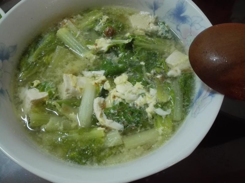 青菜豆腐湯(冬菜版)