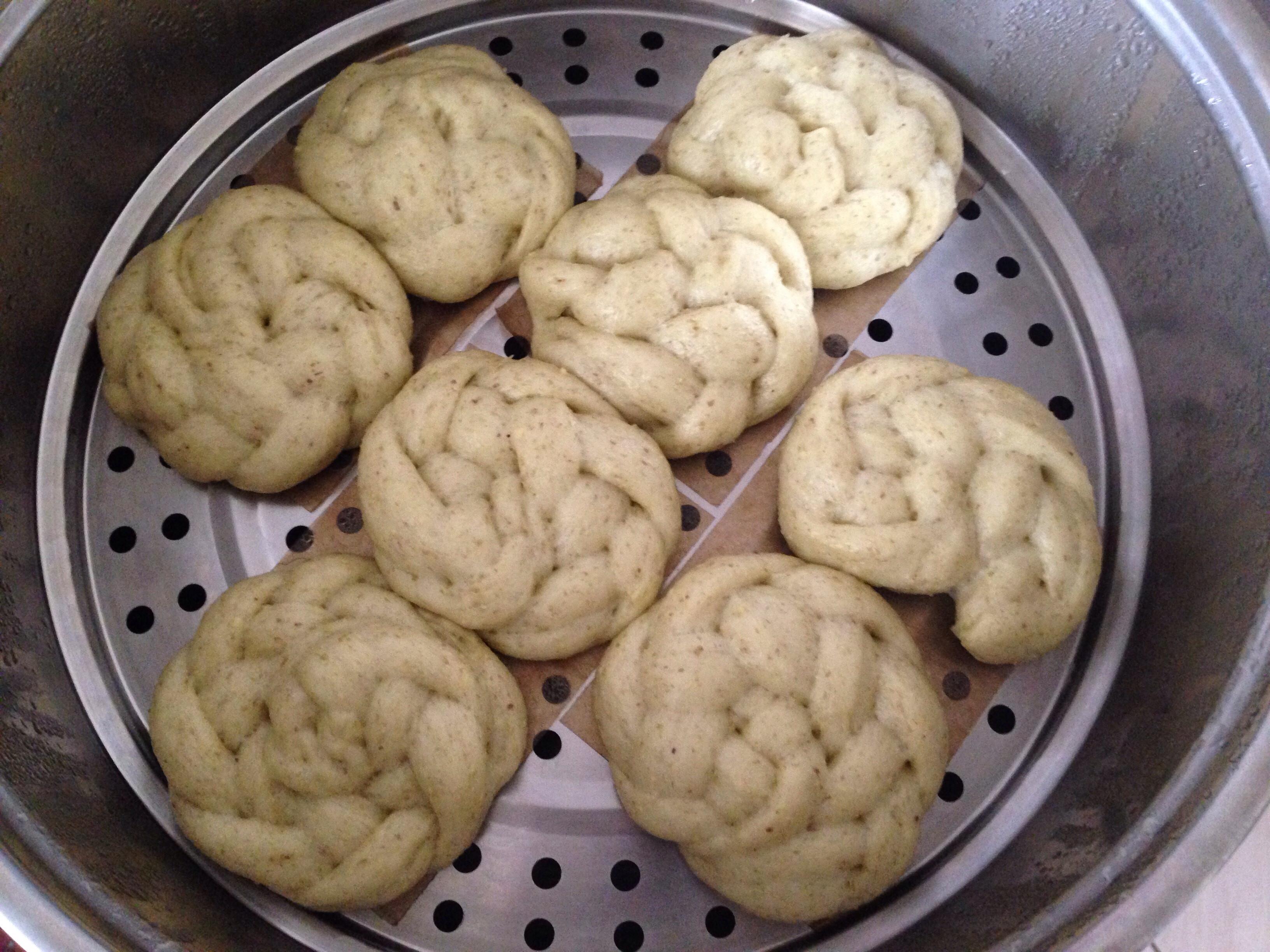 辮子捲饅頭-綠豆沙口味