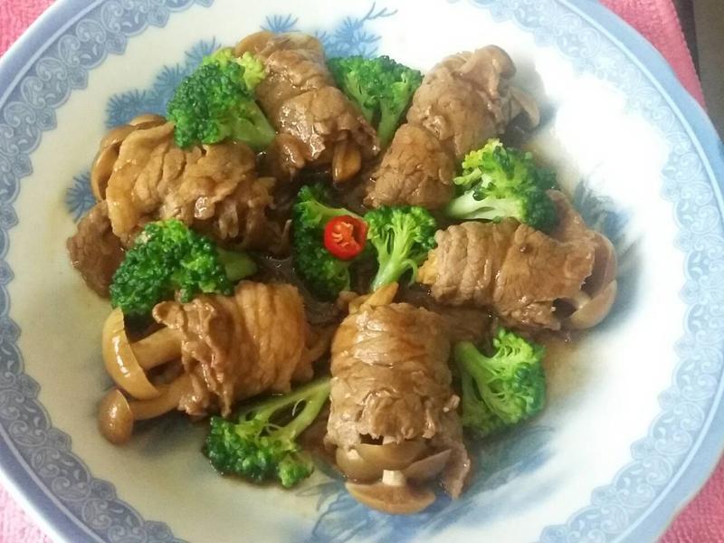醬燒牛肉鴻喜菇菇捲_好菇道美味家廚