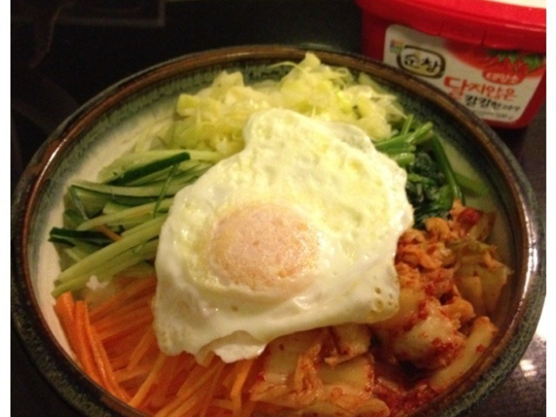 【妮小娜隨性煮】韓式蔬菜拌飯