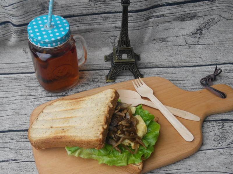 舞菇歐姆蛋三明治 - 好菇道美味家廚