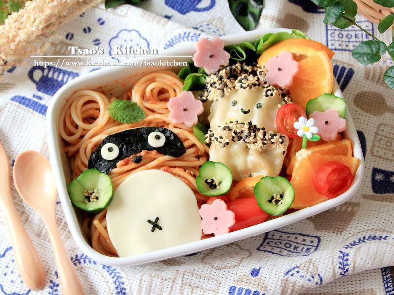狸貓餃子義大利麵野餐盒✿全聯24節氣料理