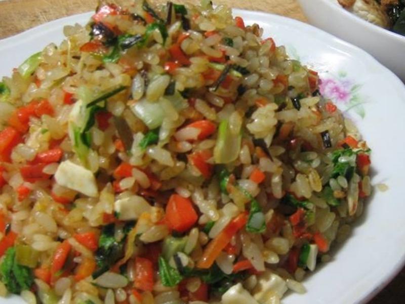 香Q 蕗蕎 鹹蛋 炒飯