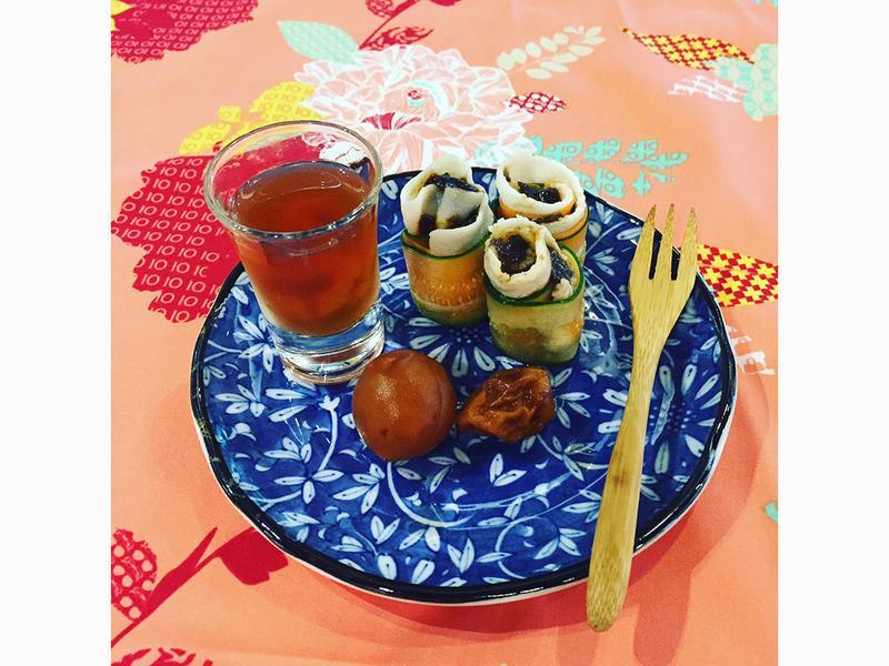 梅酒食譜 - 梅泥豬肉捲