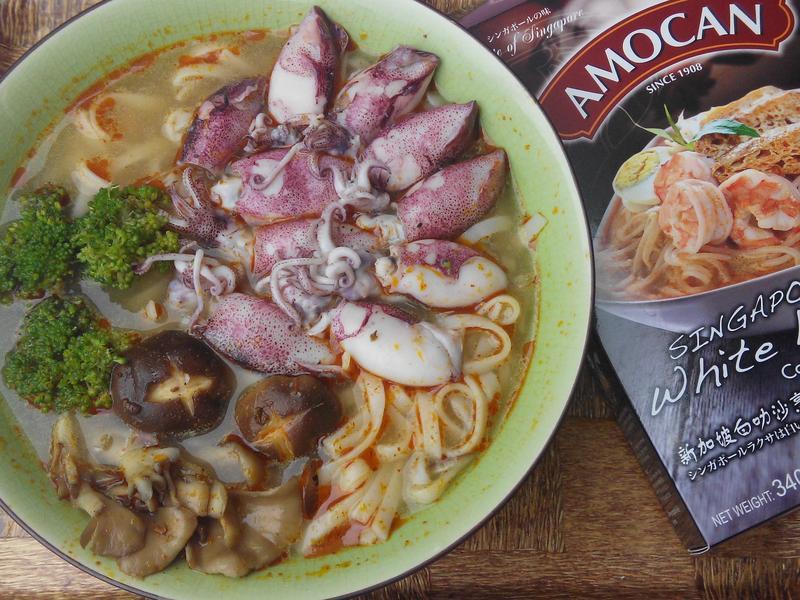 新加坡白叻沙雙菇海鮮麵【全聯快炒包料理】