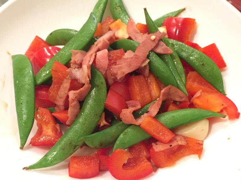 紅綠雙蔬炒火腿