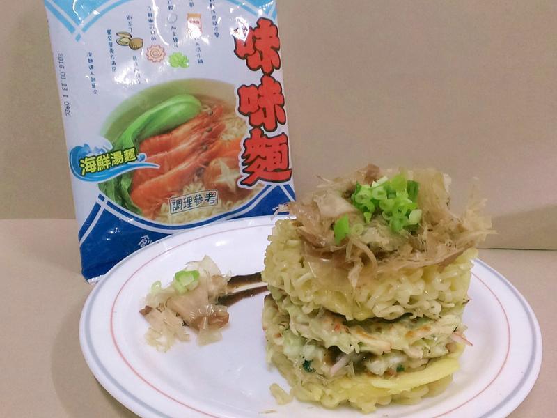 什錦海味鮮麵塔-記憶中的味味麵