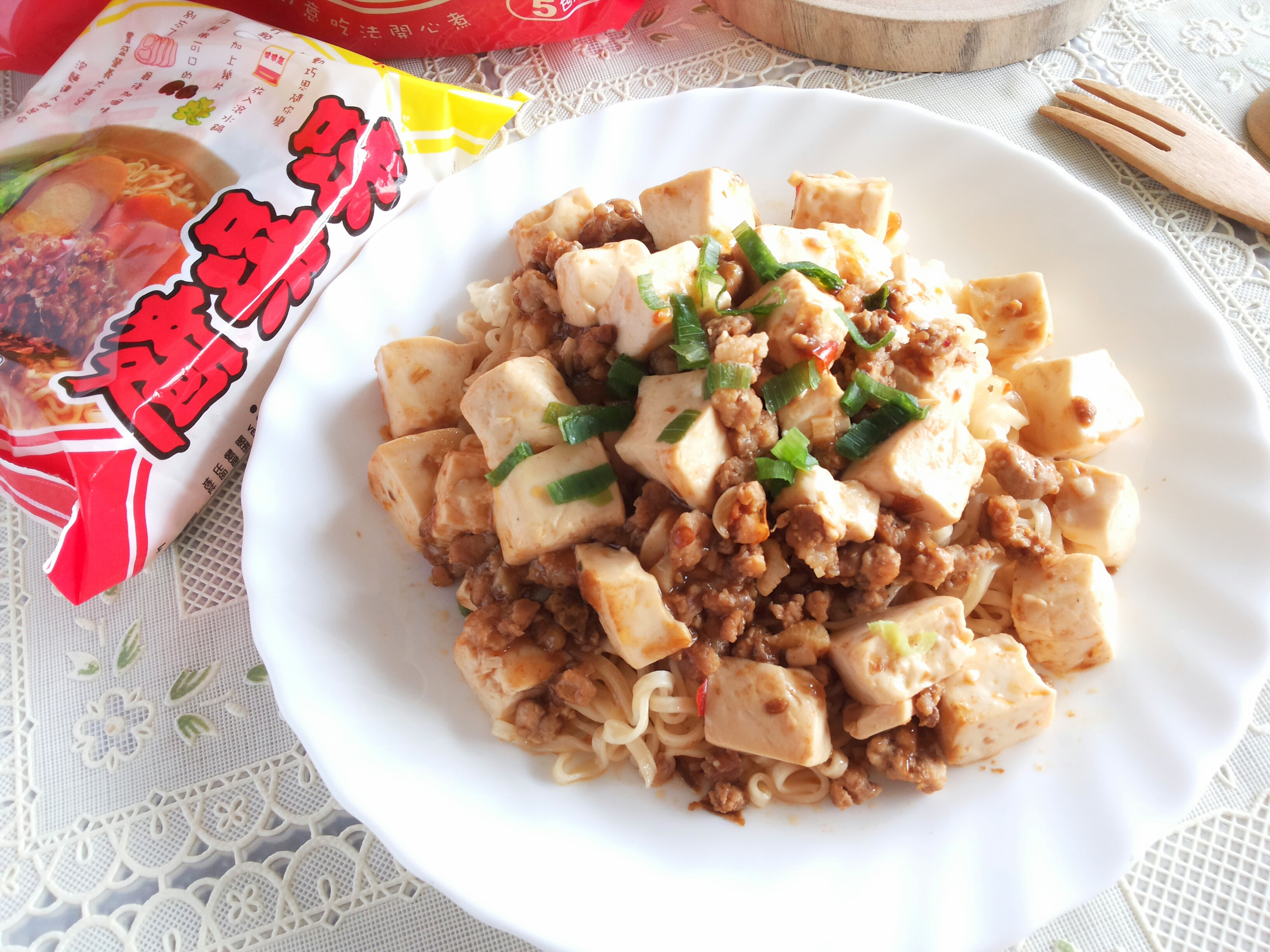 麻婆豆腐拌麵【記憶中的味味麵】