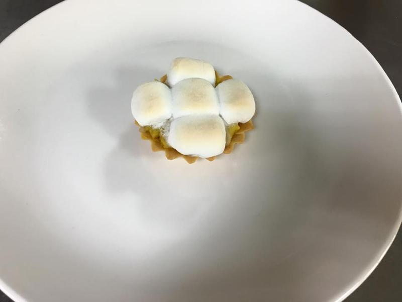 美白菇甜薯棉花糖塔