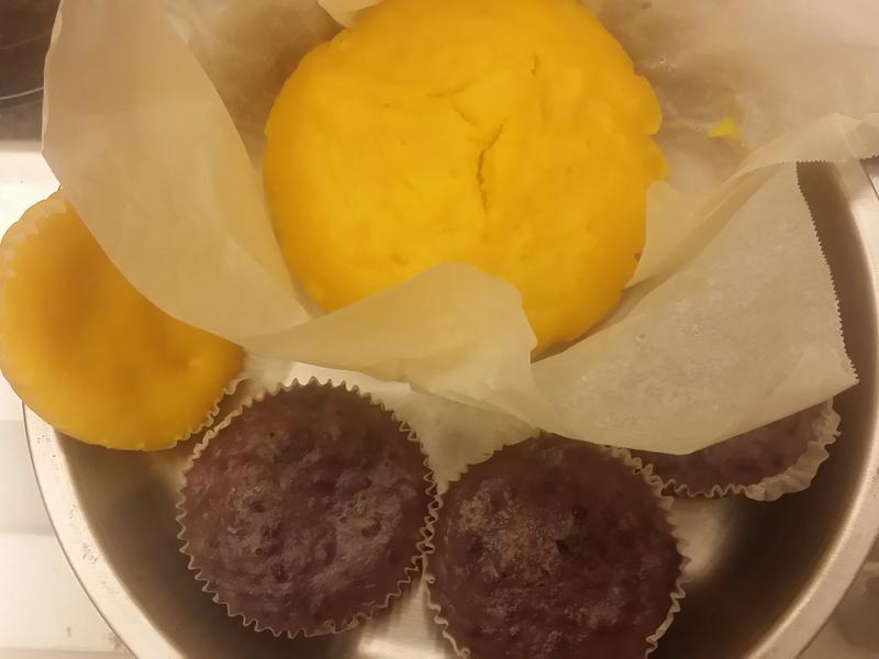 紫山藥,南瓜甜糕【鬆餅粉版】~用蒸的喔!