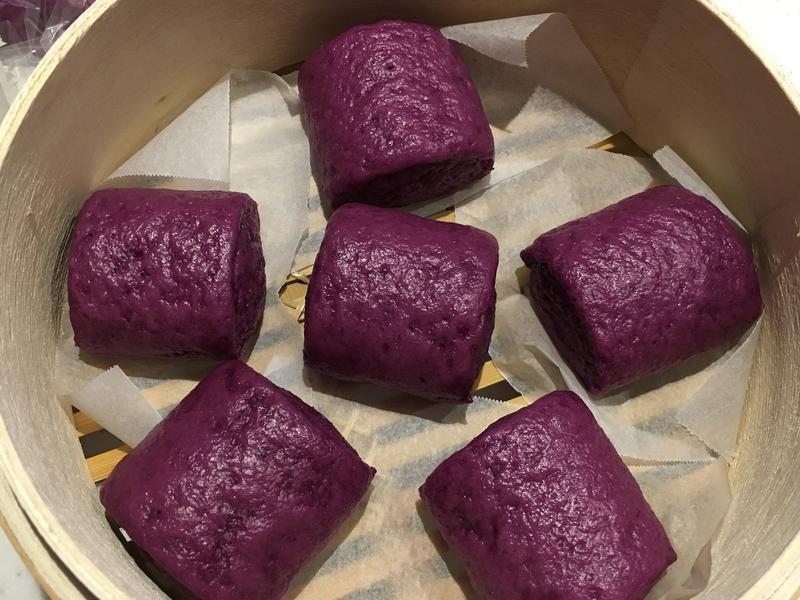 紫色地瓜饅頭(紫芋の蒸しパン)