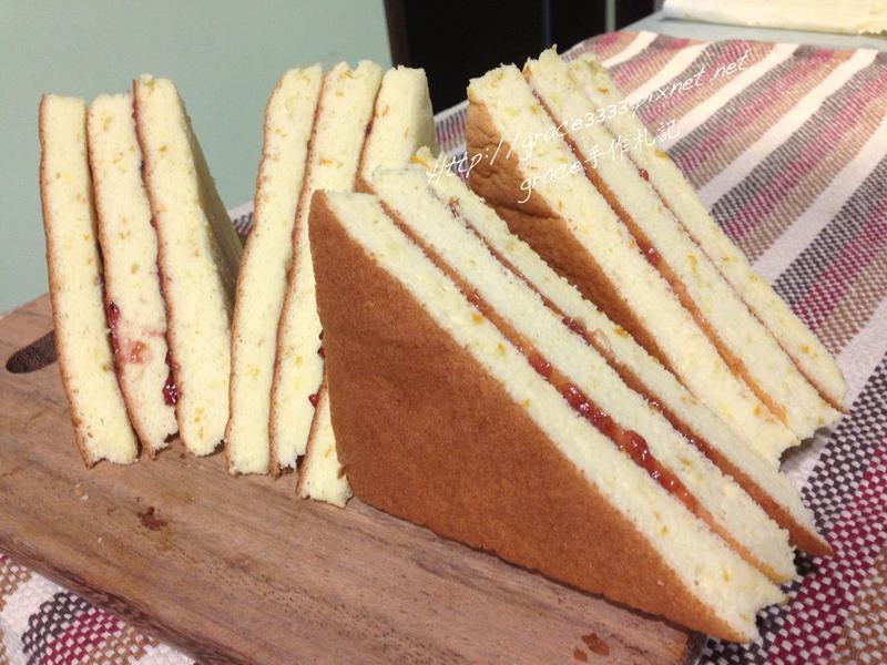柳橙三角蛋糕