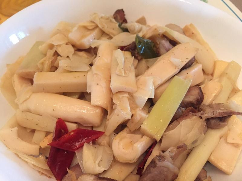 桂竹筍炒鹹豬肉