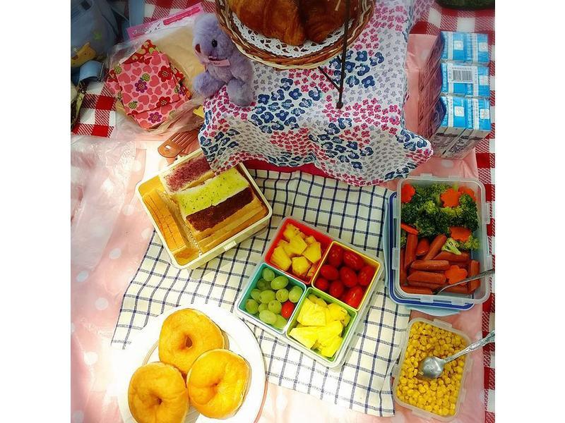 大小朋友都愛野餐蔬果輕食自助吧小七野餐趣