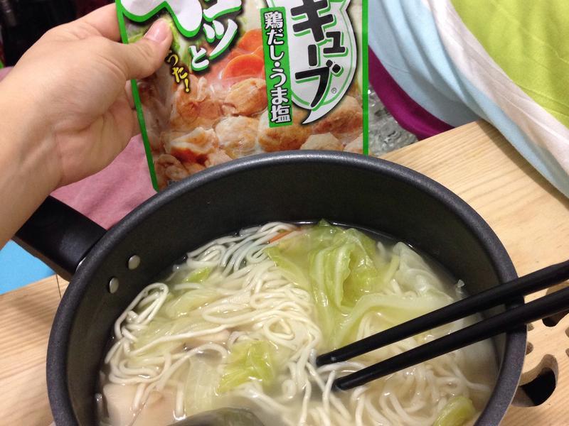 蔬菜雞湯麵《全聯快炒包料理》