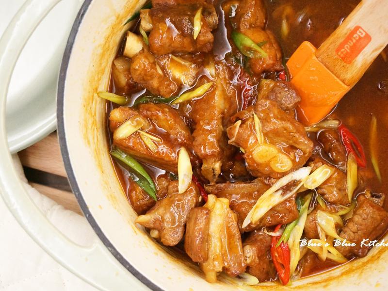 洋蔥燒子排 (簡易一鍋到底料理)