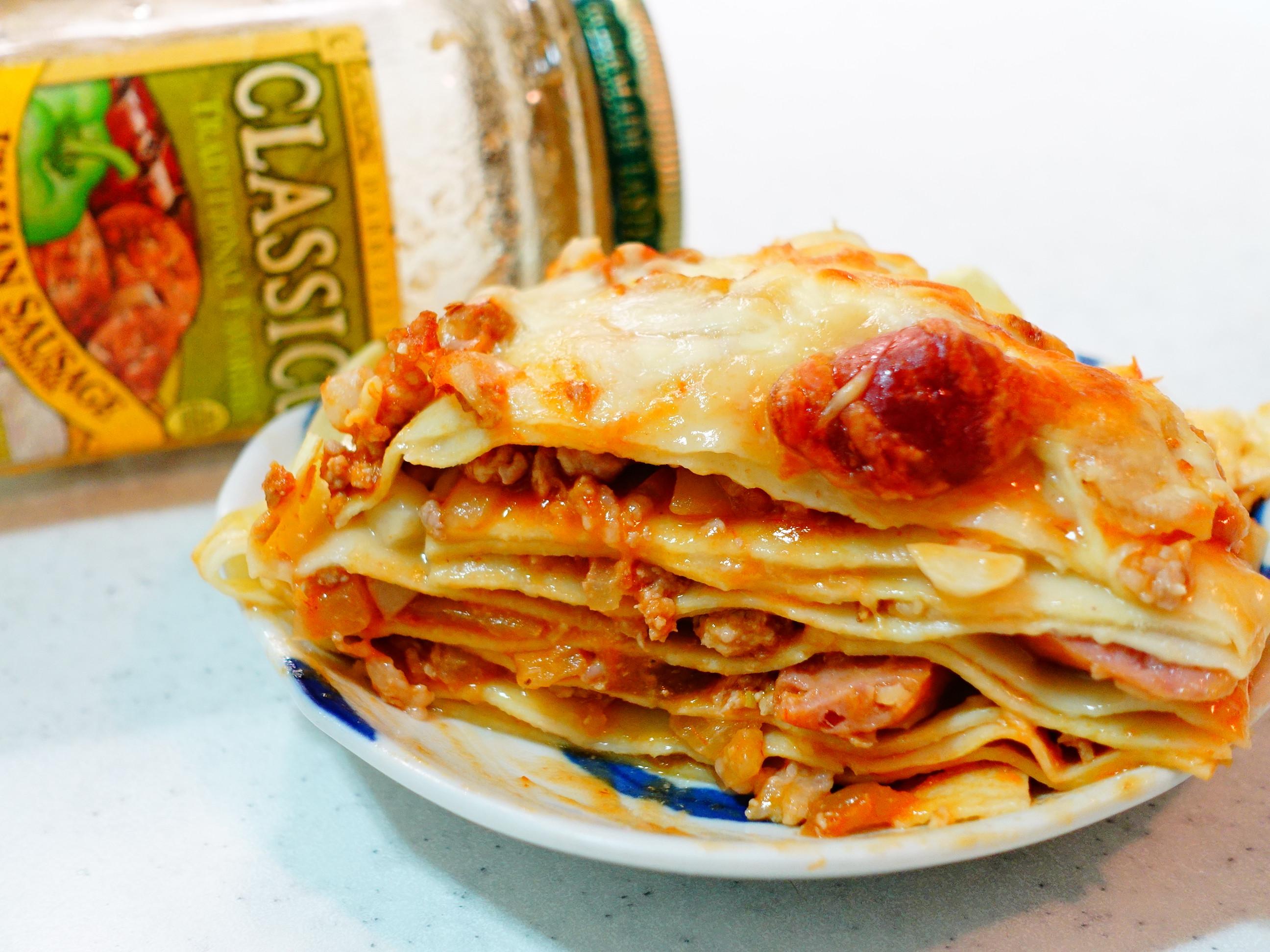 茄汁煙燻香腸千層麵CLASSICO義麵醬