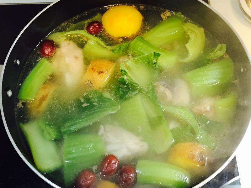 長年菜地瓜雞湯