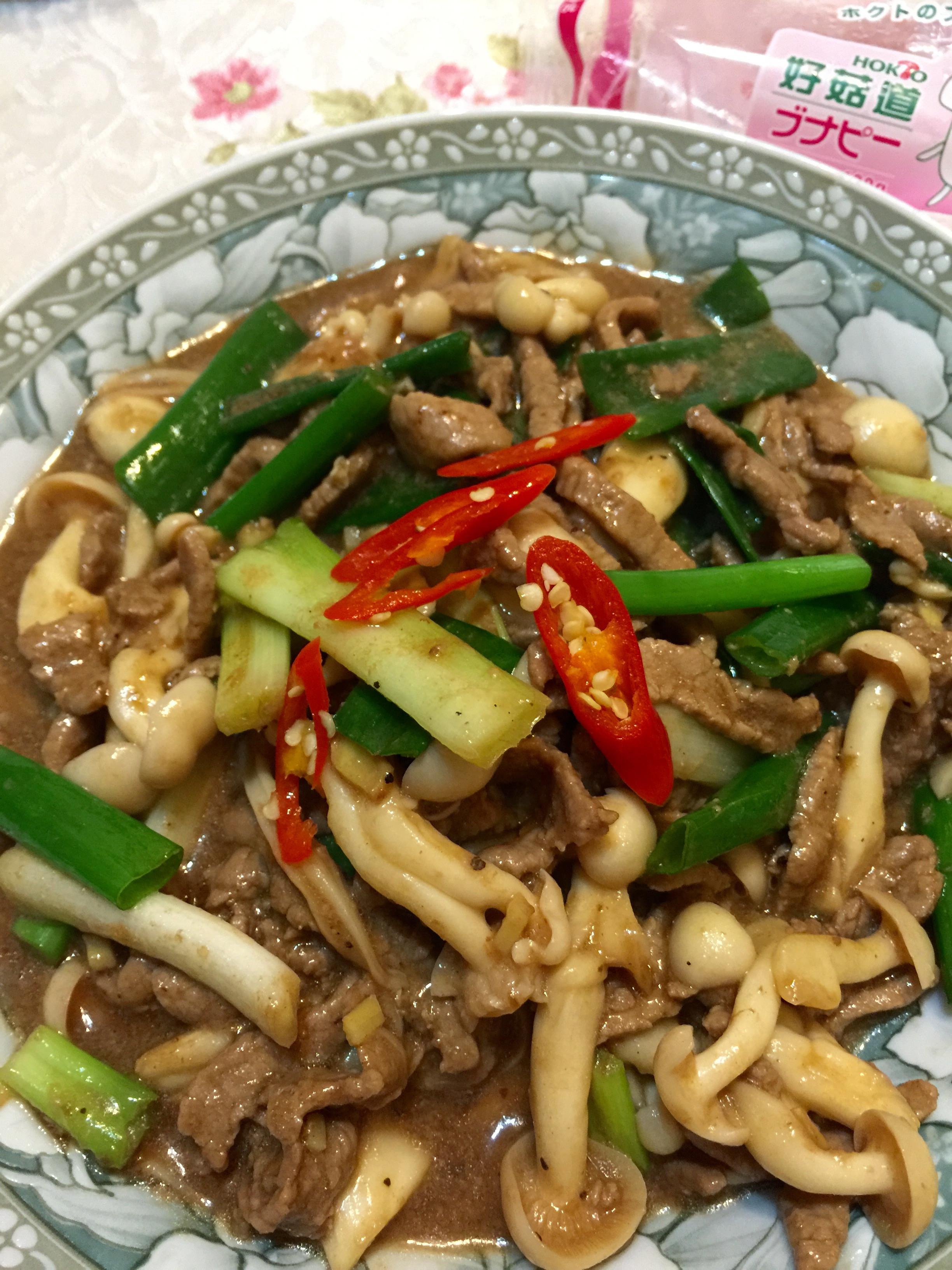 蔥香黑胡椒牛柳炒鮮菇「好菇道美味家廚」