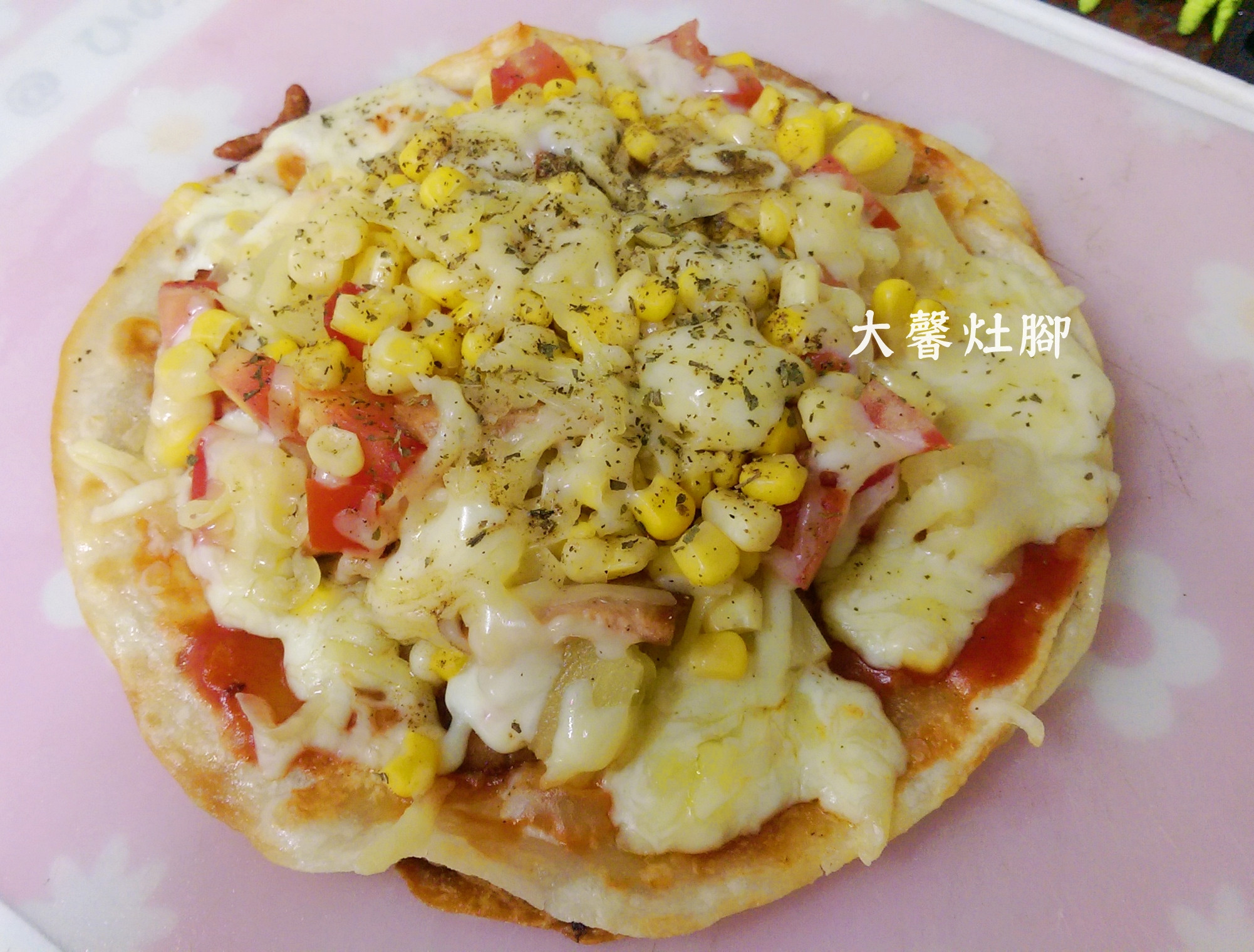 [平底鍋料理] 脆皮總匯蛋餅 pizza