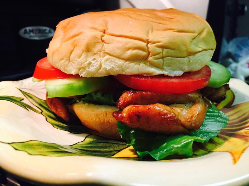 雞扒漢堡(三文治)