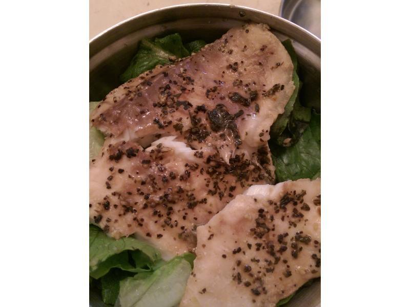 [瘦身]自製地中海超級方便檸檬醋羅勒烤魚