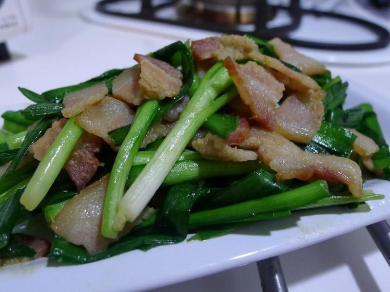 品靚上菜-培根炒韭菜