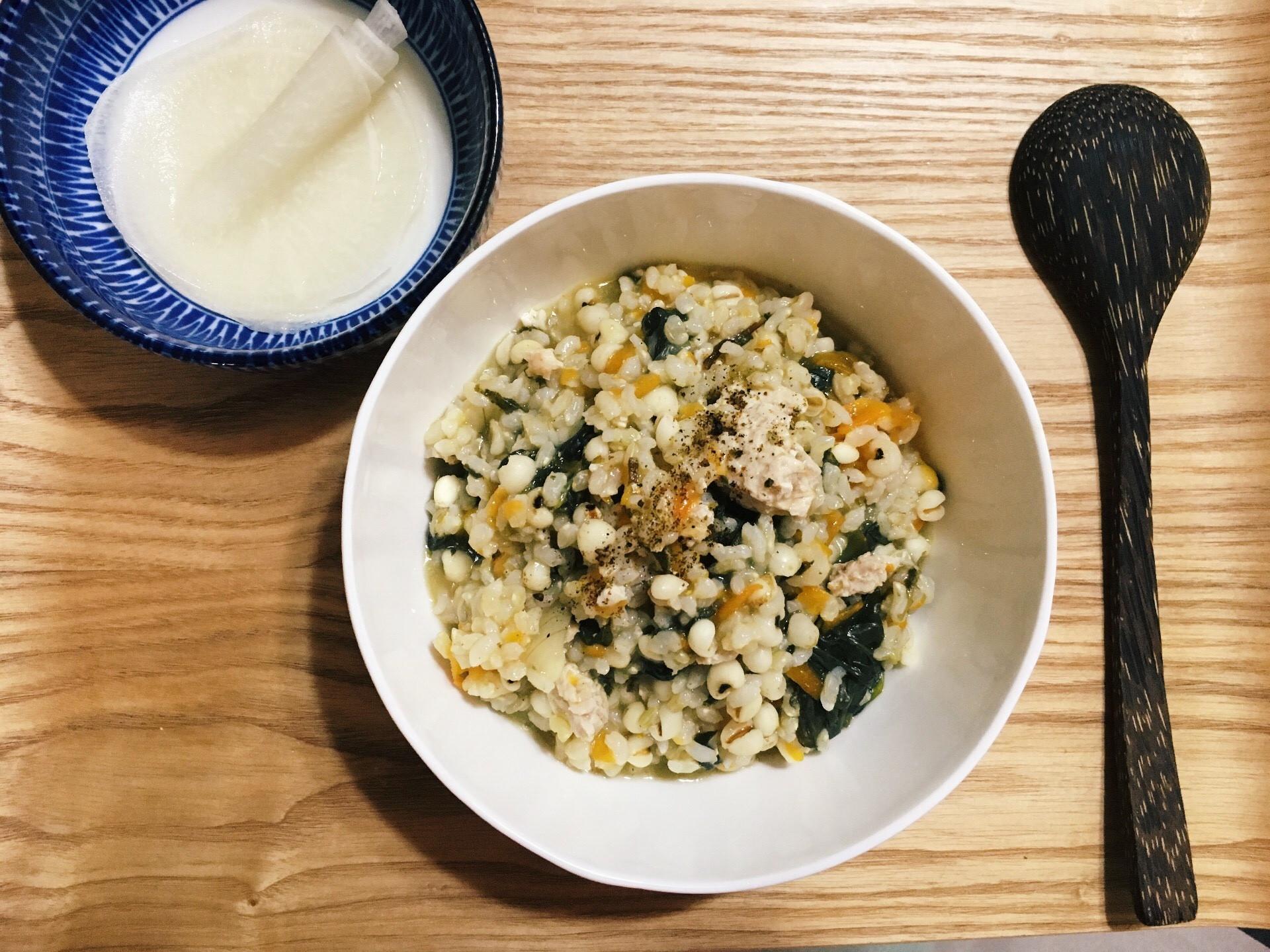 燃脂料理 | 低GI雞蓉瓜葉糙米粥