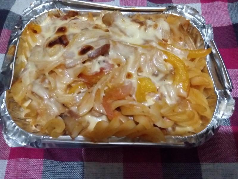 """""""焗烤蕃茄""""蔾麥義大利麵"""