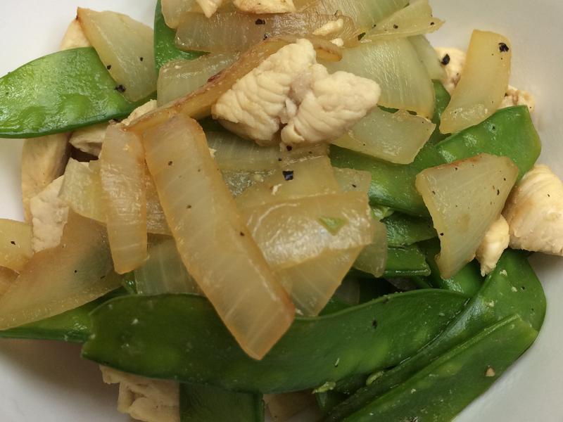 雞胸肉佐洋蔥扁豆