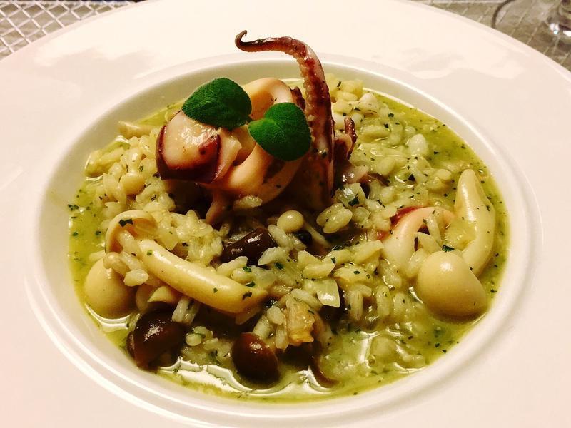 青醬野菇小卷燉飯