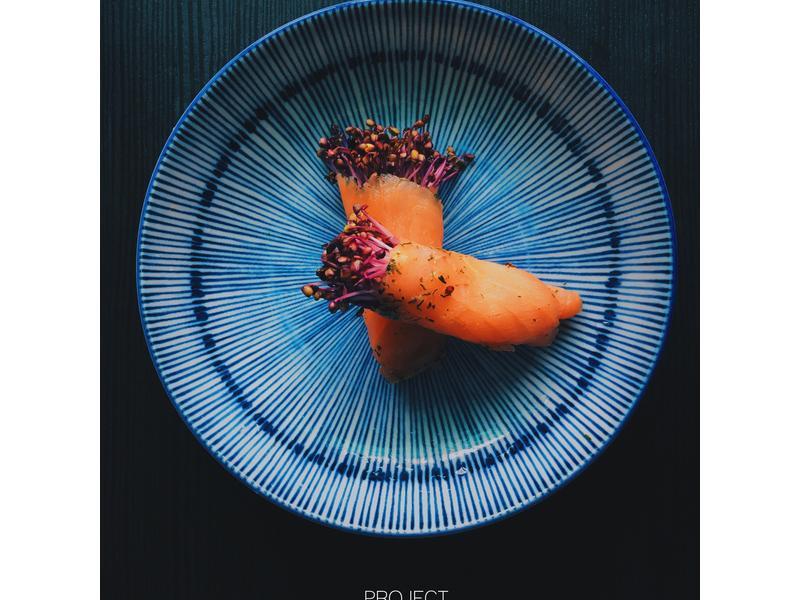 紫高麗菜苗鮭魚捲