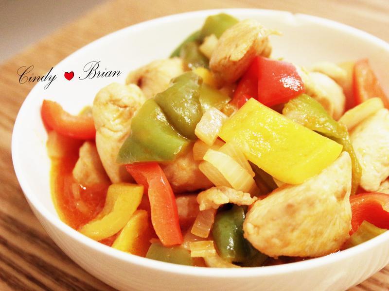 彩椒糖醋雞