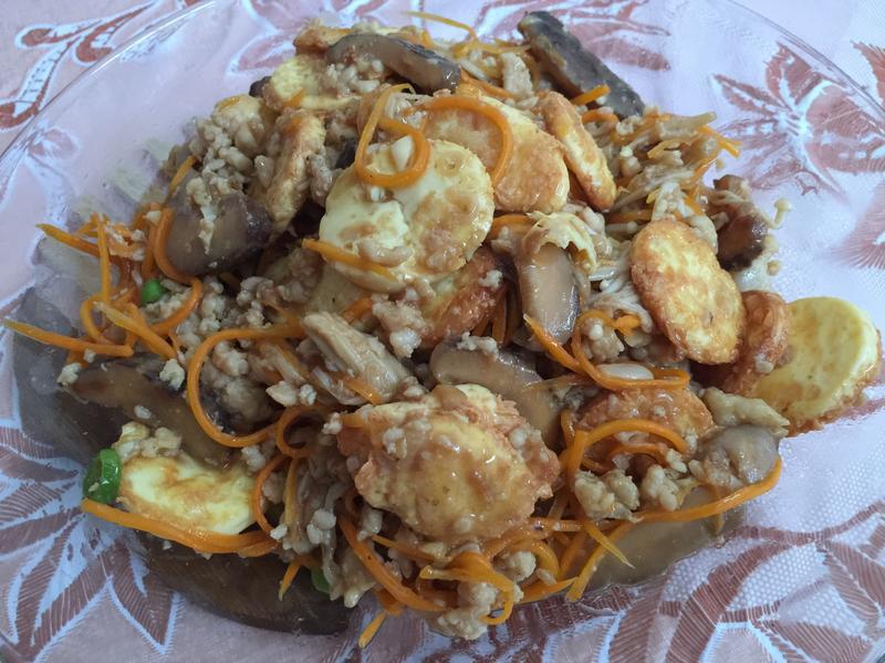 肉碎香菇豆腐